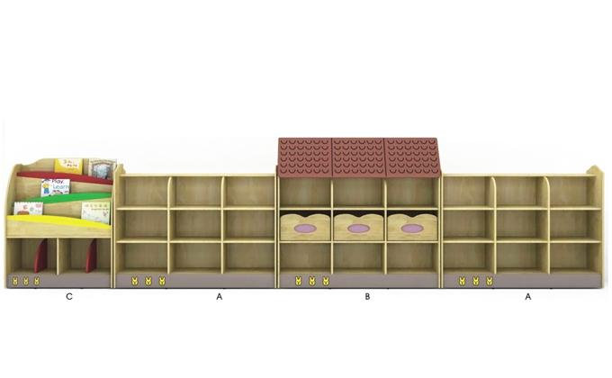 系列名称:幼儿园玩具柜-原木卡通造型 型号:J0801 尺寸规格:L360*W30*H112 产品配置:组合型 单位:套 品牌:立居办公家具 是否可定制:尺寸可定制。定制原木幼儿园玩具柜无定制费。另凡定制玩具柜下单后,不接受退换货。