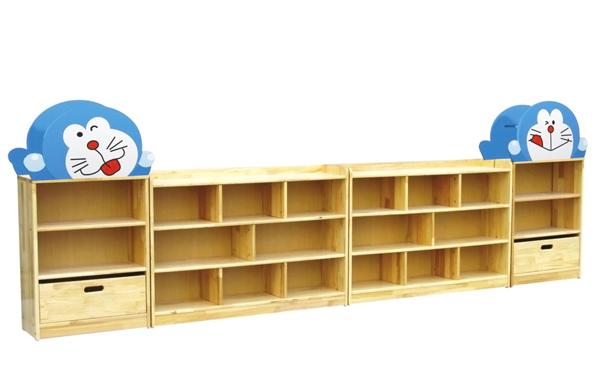 原木卡通造型玩具柜