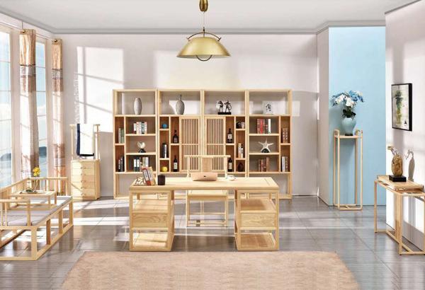 白蜡木实木-书房系列