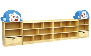 原木玩具柜J0806