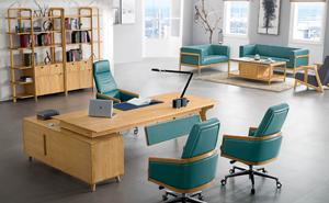 红橡木实木办公桌